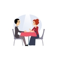 Date in a Restaurant Daily Routine Activities of vector image vector image