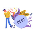 debt and financial issues themed concept vector image
