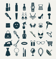 Fashion and women accessories icons vector image vector image