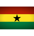 Flag of Ghana vector image vector image