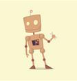 funny cartoon robot vector image vector image
