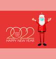 happy 2022 new year 3d santa claus character vector image