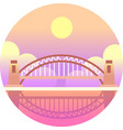 harbour bridge gradient vector image