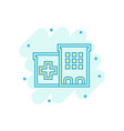hospital building icon in comic style infirmary vector image vector image