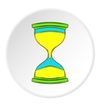 Hourglass icon cartoon style vector image vector image