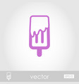 Ice cream outline icon summer vacation