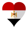 isolated flag of egypt on a heart shape vector image