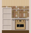 kitchen element with oven and cupboard vector image vector image