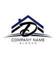 letter d house logo vector image