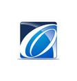 letter o logo design template vector image