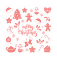 merry christmas brush calligraphy vector image vector image