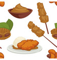 peanut dishes of food or drinks and desserts vector image vector image