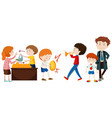 people doing different activities vector image vector image