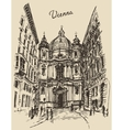 Peterskirche in Vienna Austria hand drawn sketch vector image vector image