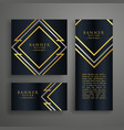 premium golden invitation card design vector image vector image