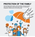 Protection of the family concept vector image vector image