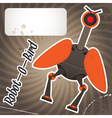 Robot bird vector image