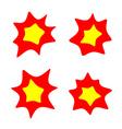 rounded burst stars set Flash blast bright symbols vector image vector image