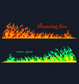 running fire flame elements vector image vector image