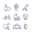 Set Fitness sports gym icons