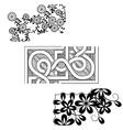 Set of vintage seamless borders Corner Elements vector image vector image