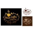 Shop coffeesymbols or banners vector image vector image