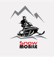snowmobile logo template stylized symbol vector image