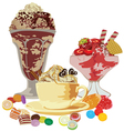 Still Life with Sweets vector image vector image