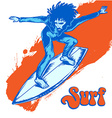 surfer on wave vector image vector image