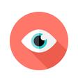 vision eye circle flat icon vector image vector image