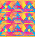warm color triangle seamless texture vector image vector image