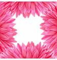 watercolor pink dahlia botanical art template vector image vector image