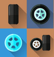 wheel flat design vector image vector image
