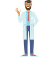 young doctor man vector image vector image