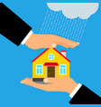 insurance for home vector image