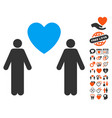 gay lovers icon with dating bonus vector image