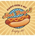 American hot dog poster template vector image