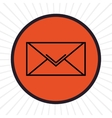 Email inline icon graphic vector image