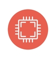 Circuit board thin line icon vector image
