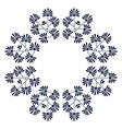Round photo frame of flowers vector image