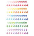 100 different colorful balloons set vector image vector image