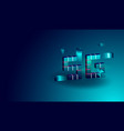 5g technology isometric concept banner with 3d vector image vector image