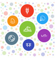 7 marine icons vector image vector image