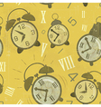 alarm clocks seamless vector image