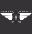 american football or rugball with wings sport vector image vector image