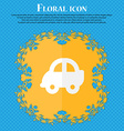 Auto Floral flat design on a blue abstract vector image vector image