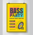 bass dance party poster vector image vector image