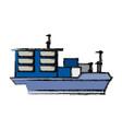 big merchandise ship vector image