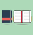 book flat icons vector image vector image