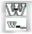 Business card design with letter W vector image